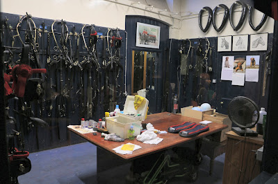 The harness room at the Royal Mews, Buckingham Palace