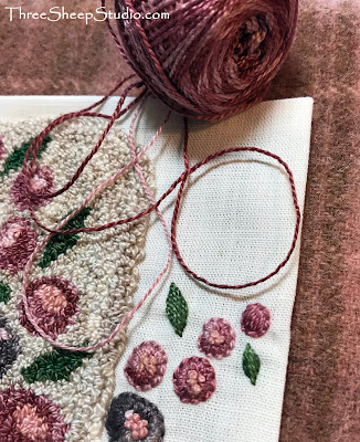 Country House in the Spring - Punch Needle design by Rose Clay at ThreeSheepStudio.com