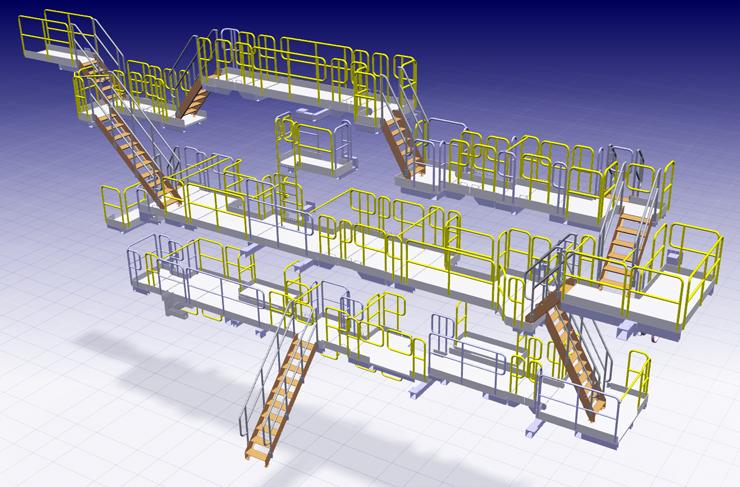 Организация производства металлических лестниц, площадок обслуживания, перил и ограждений