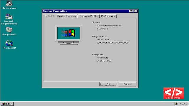 تحميل ويندوز95 كتطبيق لمختلف انظمة التشغيل(ويندوز-ماك-لينكس)