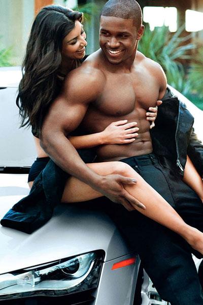 Kim kardashian and reggie bush photo shoot seems
