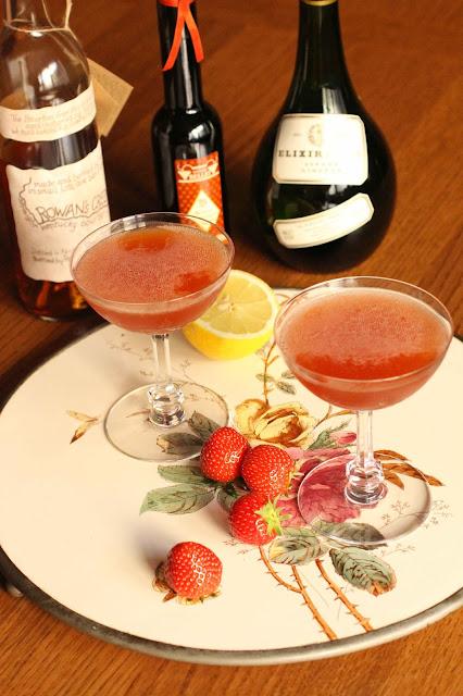 cocktail fraises bourbon