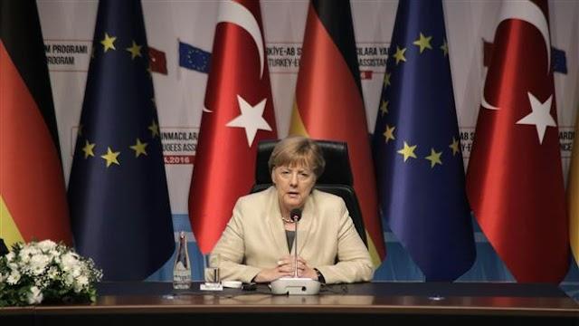 Angela Merkel calls for refugee 'safe zones' in Syria