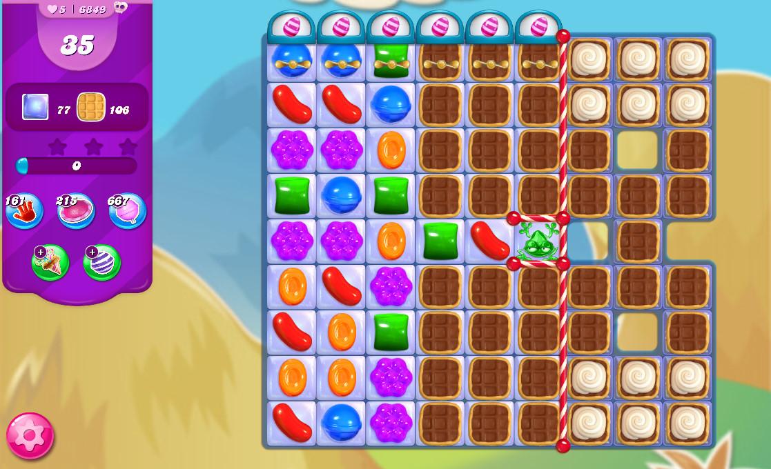 Candy Crush Saga level 6849