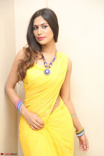 Nishigandha in Yellow backless Strapless Choli and Half Saree Spicy Pics 140.JPG