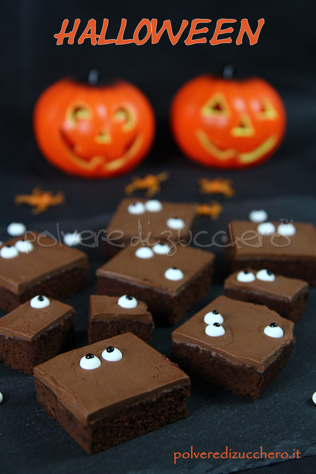 halloween cake chocolate torta cioccolato a quadrotti spooky eyes cake  design polvere di zucchero 50ed891a61e4
