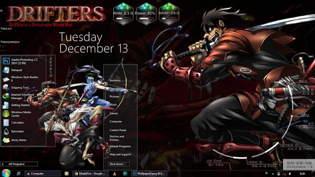 Free Download Drifters Windows 7 Anime Theme