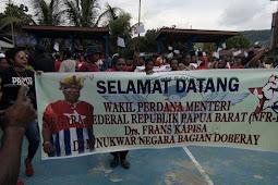 Polisi Nasional Papua Kawal Kunjungan Wakil Perdana Menteri di Negara Bagian Doberay