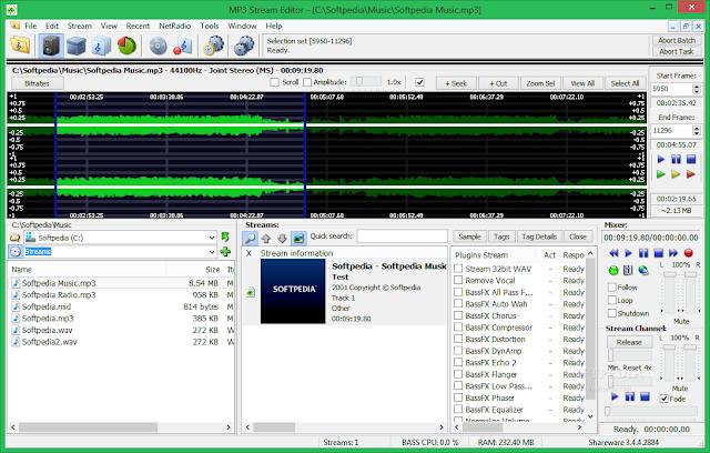 تحميل برنامج قص ودمج الاغاني للكمبيوتر MP3 Stream Editor