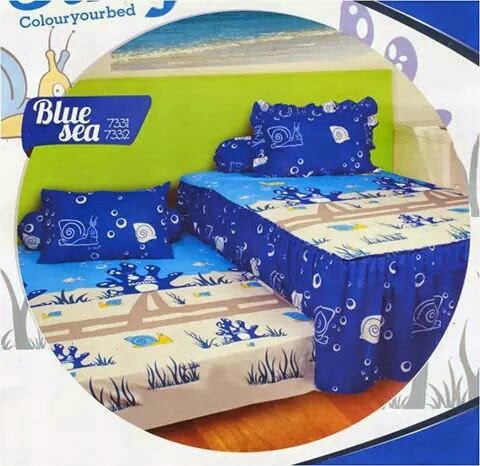 California single duo motif blue sea