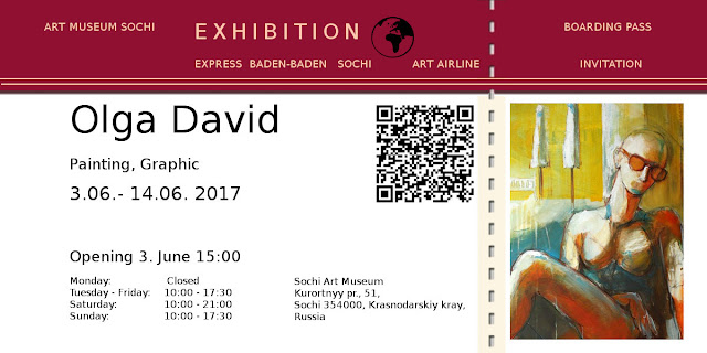 Olga David mit Bilderausstellung in Sochi Art Museum