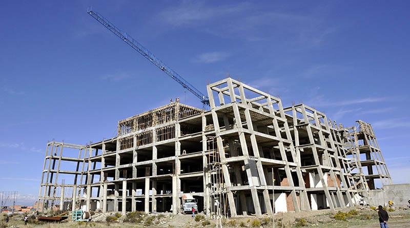 La obra fue suspendida en 2013 y se encuentra en la zona Libertad del Distrito 4