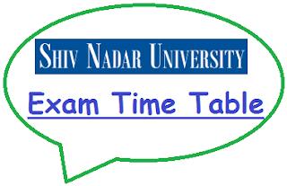 Shiv Nadar University Date Sheet 2020