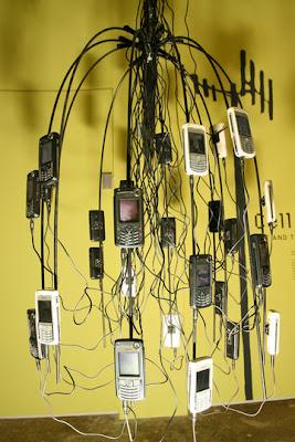 Arte y  teléfonos celulares.