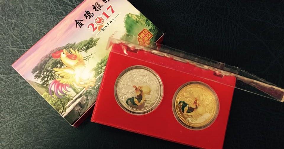 Tiền xu Úc và Đài Loan mạ vàng bạc hình con gà các loại sỉ ...