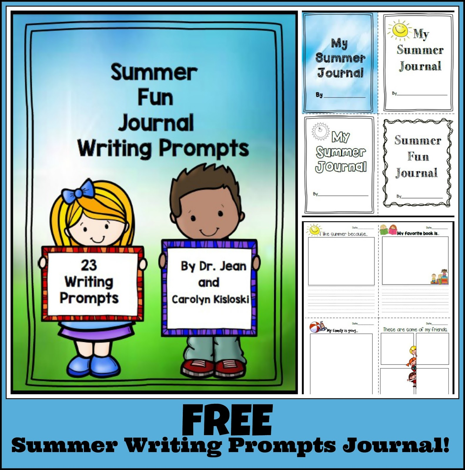 Kindergarten: Holding Hands and Sticking Together: Summer Fun Journal!