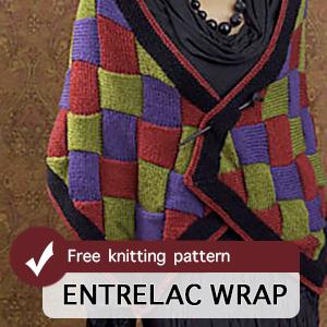 Entrelac Wrap Free Pattern