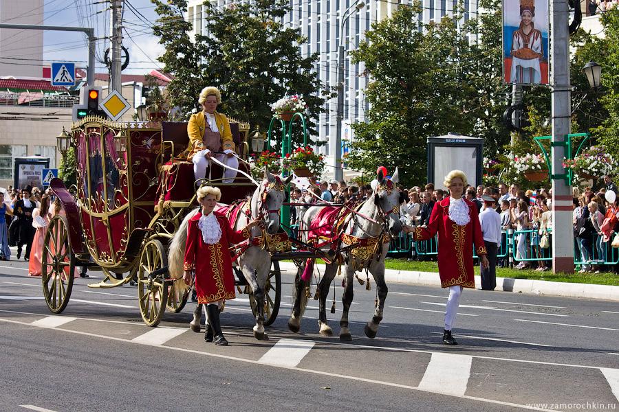 Конный экипаж, карета. Театрализованное шествие 'ВСЕ мы - Россия'