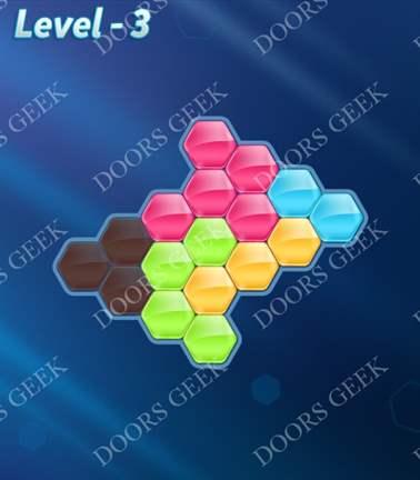 Block! Hexa Puzzle [Rainbow A] Level 3 Solution, Cheats, Walkthrough for android, iphone, ipad, ipod