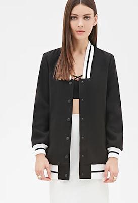 Longline baseball jacket, $37.90 by Forever 21