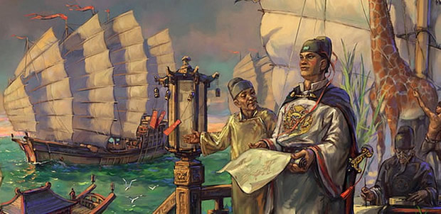 the great Chinese admiral Zheng He