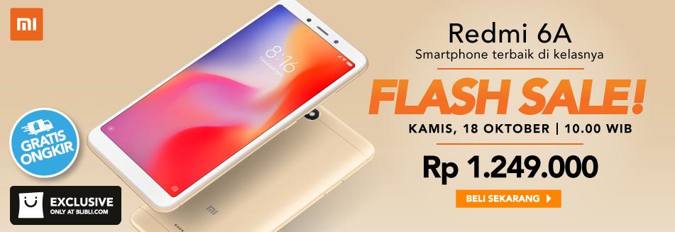 BliBli - Promo Flash Sale Redmi 6A (HARI INI Jam 10:00 )