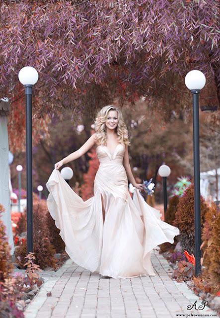 Chiffon Ruched bodice Evening Dress
