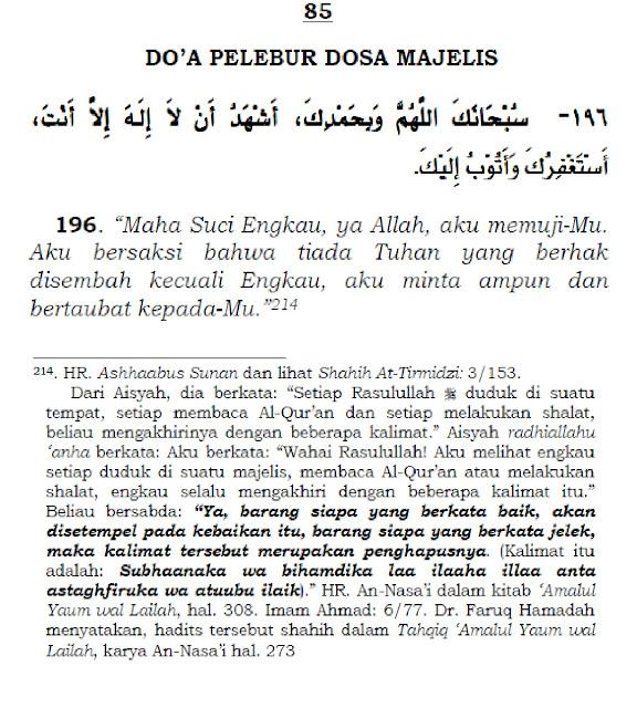 Bacaan Doa Pelebur Dosa Majelis Sunnah