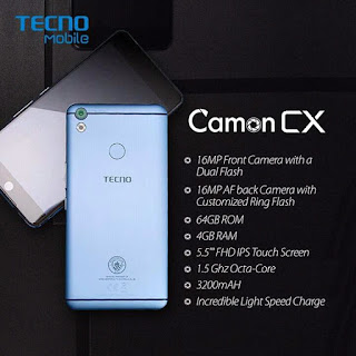 Tecno Camon CX Manchester City Edition Specifications and Price