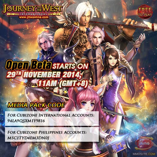 Journey To The West Online, Open Beta, Media Pack Giveaway
