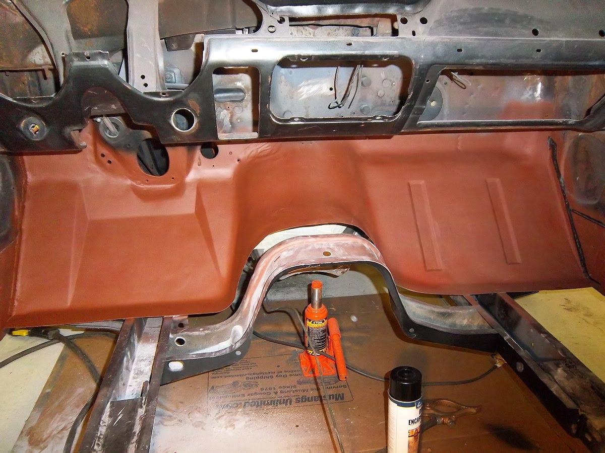 1967 Mustang Restoration Driver Side Toe Board