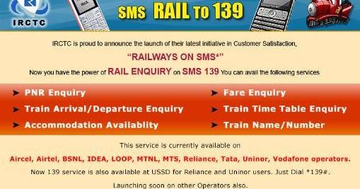 INDIAN RAILWAY NUMBER 139 PNR STATUS TRAIN STATUS ARRIVAL DEPARTURE