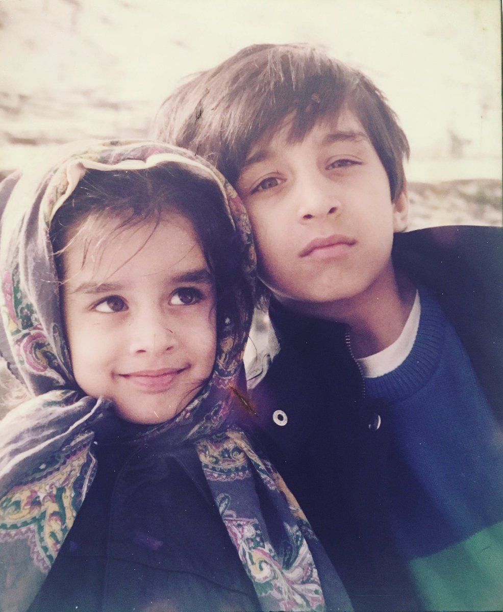 Childhood Photo Of Shraddha Kapoor With Brother Siddhant