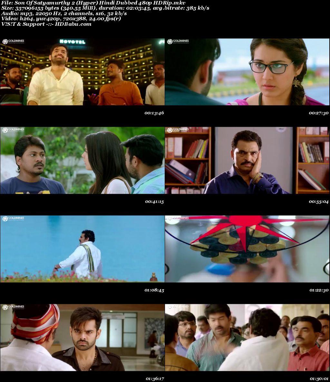 Son Of Satyamurthy 2Hindi Dubbed Full HD Movie Download,  Son Of Satyamurthy 2 (Hyper) (2017) Hindi Dubbed 720p & 480p HDRip