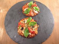 Mini pizzas de coliflor.Reto gastroamig@s