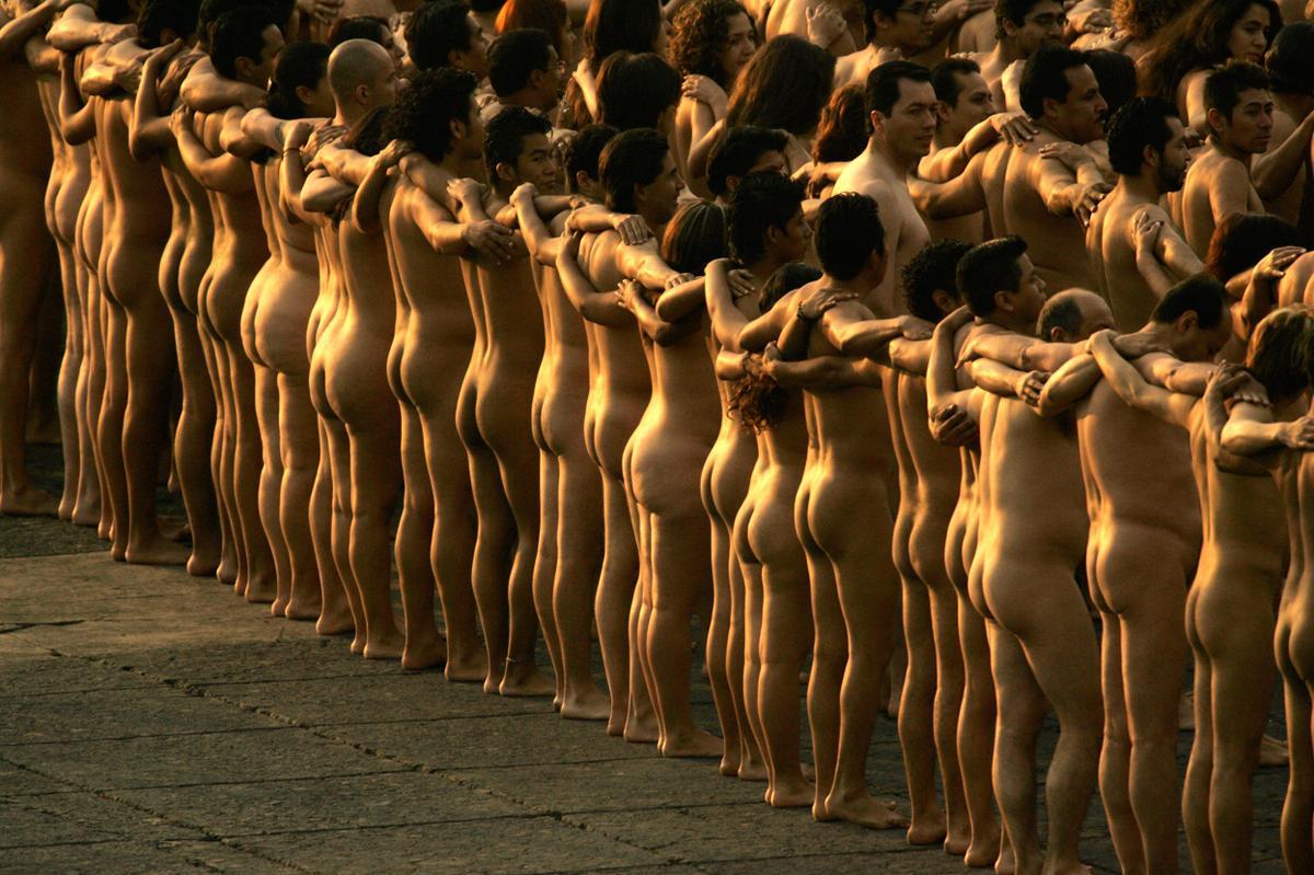 Spencer tunick videos naked world