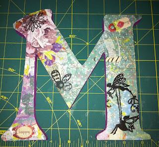 Letter Art Tutorial | The TipToe Fairy #mixedmedia #letterart #craft tutorial