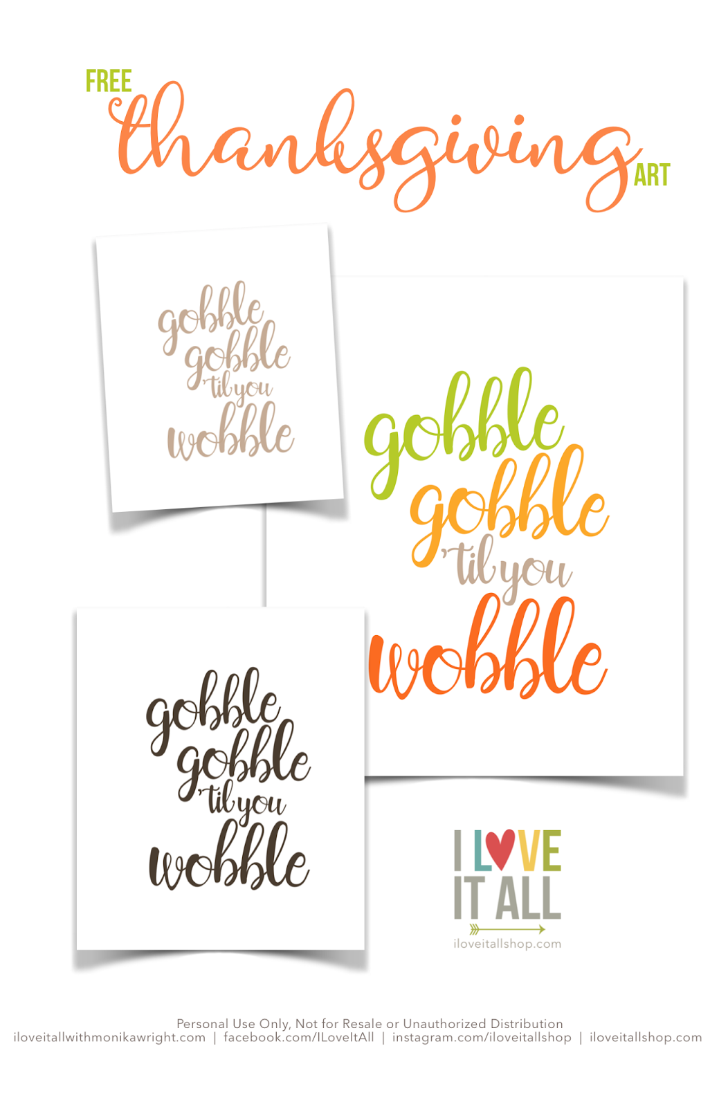 #free #thanksgiving #art #print #gobble #home #decor #printable #download #diy #family #together #fall #decorating