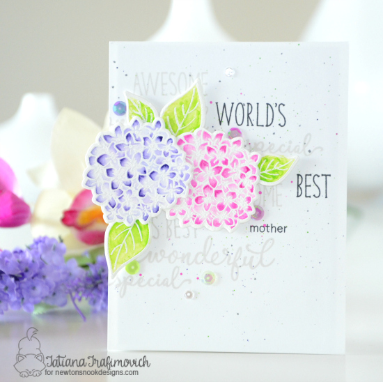 World's Best mother floral card by Tatiana Trafimovich | Simply Relative & Lovely Blooms Stamp sets by Newton's nook Designs #newtonsnook