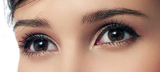 Champagne eyeliner is perfect for brown eyes