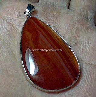Leontin Batu Chalcedony Motif - ZP 518