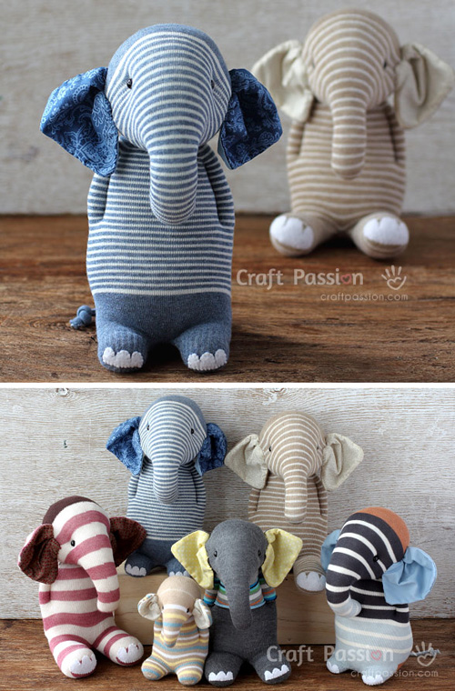 Sock Elephant - Free Pattern