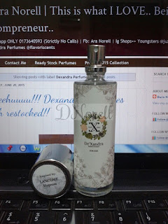 Authorized Seller Dexandra Perfumes : Dura 0173640593 (Ig : flavoriscents | Fb : Ara Norell)