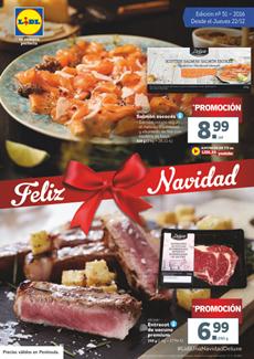 "Catálogo Lidl ""Feliz Navidad"" 2016"