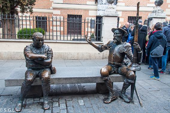 Don Quijote y Sancho Panza. Alcala de Henares