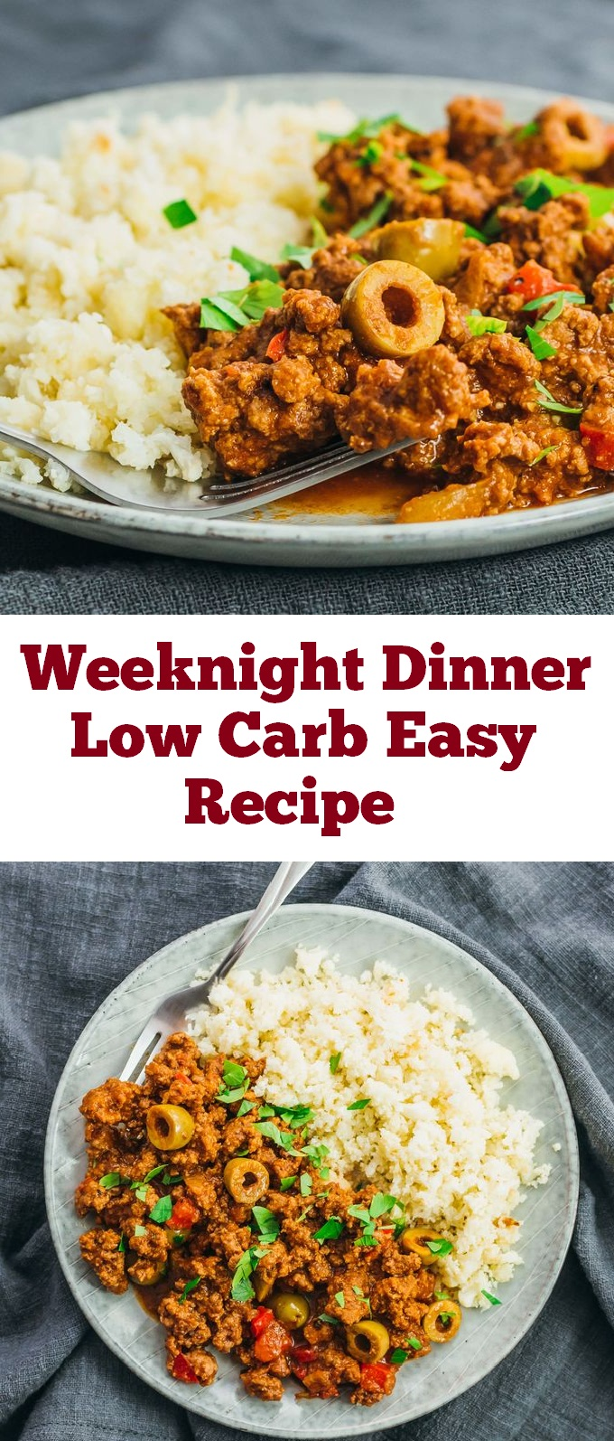 This Picadillo - Keto and Low Carb recipe is loaded with Amazing flavor and is a Paleo, Whole30, gluten-free, dairy-free and keto recipe to make for an easy weeknight dinner. From start to finish, you can have this low carb and healthy family dinner recipe ready in under an hour! #lowcarb #healthydinner #glutenfree #keto #ketodinner #ketogenic #lowcarbdinner #dinner #weeknightdinner #weeknight #dairyfree #paleo