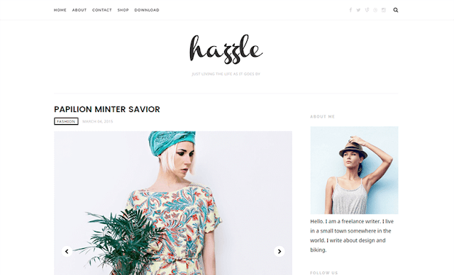 Hazzle Clean & Minimal Blogger Template