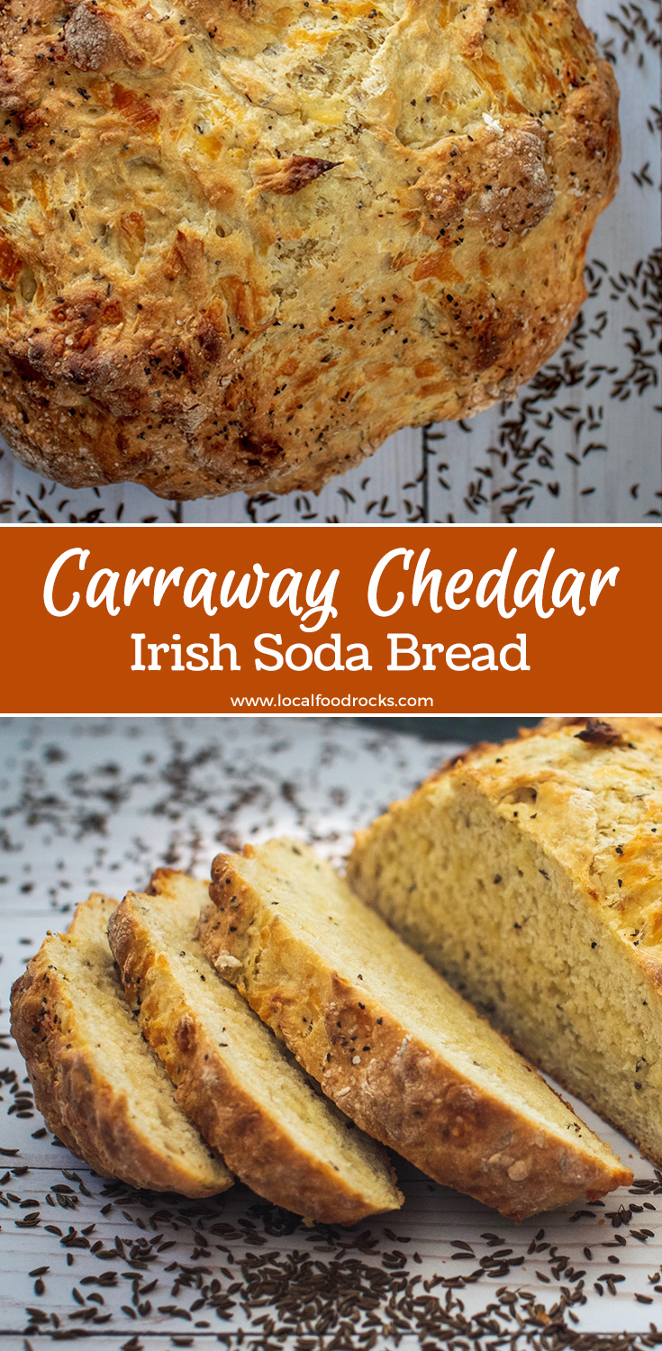 Easy to make, Caraway Cheddar Irish Soda Bread is a delicious non-traditional twist on a St. Paddy's Day classic. | Local Food Rocks