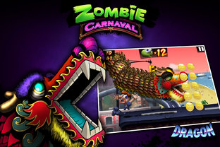 un carnaval de zombies sur iphone et ipad actualit s et astuces jeux video. Black Bedroom Furniture Sets. Home Design Ideas