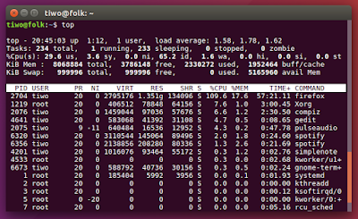 Listing Memory and CPU Usage from Terminal Linux